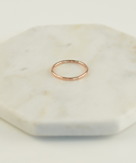 Ring Circles Hammered - Rose Gold