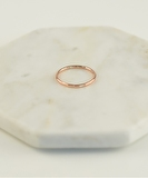 Circles Hammered Ring - Rose Gold