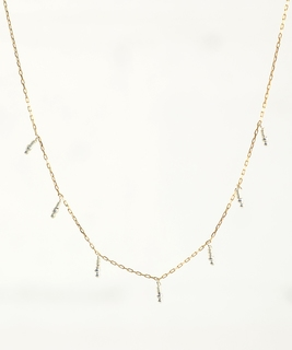 Namibie Drops Long Necklace - Silver