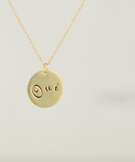 Oui Gold Leaf Necklace