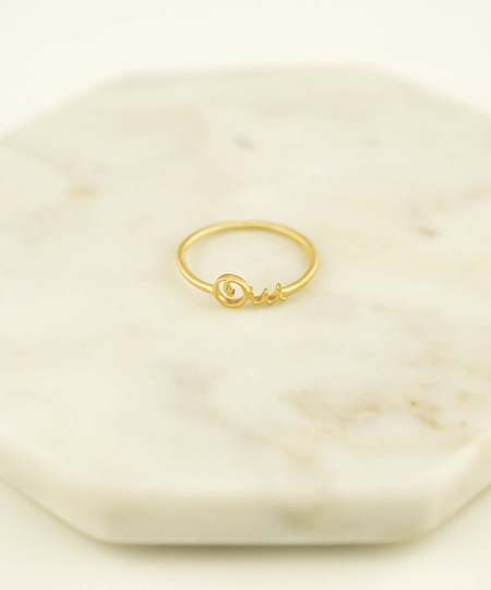 Oui Satin Gold Ring