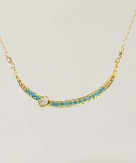 Sara Diamonds & Turquoise Necklace