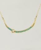 Sara Diamonds & Turquoises Necklace