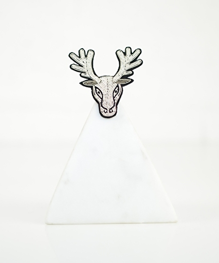 Reindeer Embroidered Pin