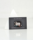 Digital Watch Embroidered Pin