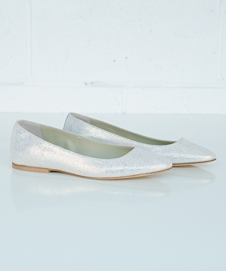 Ballet Flat - Broken Glass White Gold