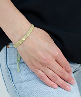 Luxury Gri Gri Gold Bracelet - Jade