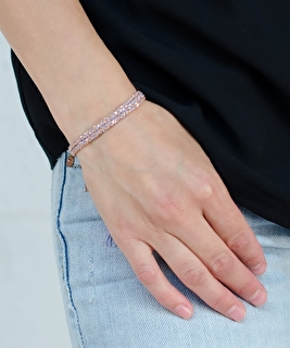Luxury Gri Gri Gold Rose Bracelet - Lilac