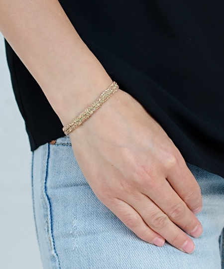 Luxury Gri Gri Rose Gold Bracelet - jade
