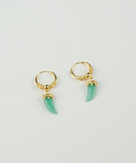 Horn Earrings - Jade