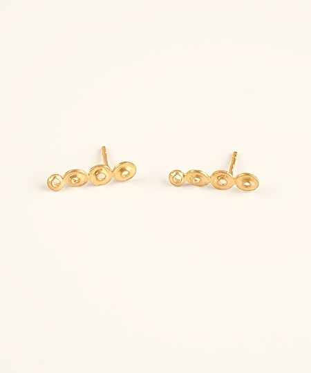 Pema 4 Spheres Earrings - Gold