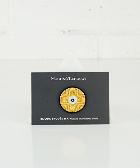 Golden Record Embroidered Pin