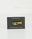 Trumpet Embroidered Pin