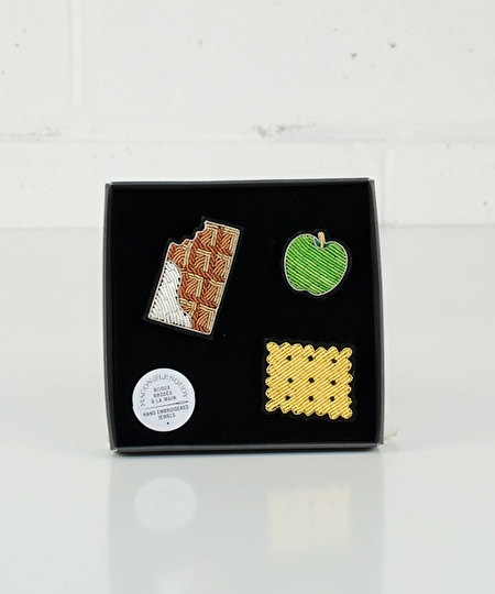 Snack Set Embroidered Pins
