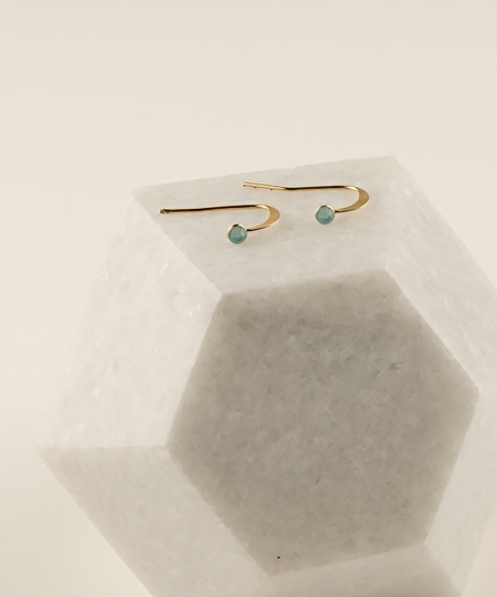 2MM Blue Opal Earrings