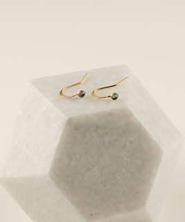 2MM Black Diamond Earrings