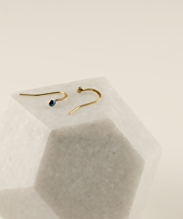 2MM Midnight Blue Earrings