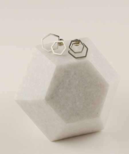 La Ruche Earrings - Silver