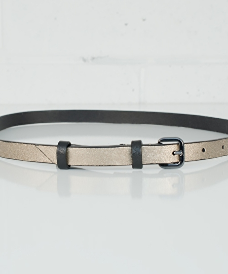 Ivy Leather Belt - Gold Metallic