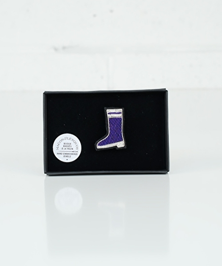 Rubber Boot Embroidered Pin