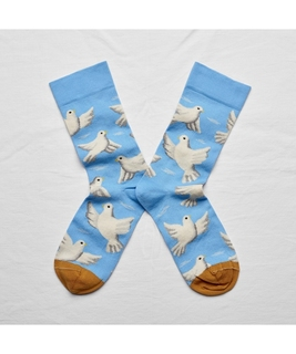 Azure Dove Socks