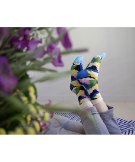 Multicolore Puzzle Socks