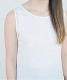 Rayan Linen Top - White