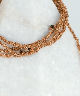 Luxury Gri Gri Bracelet / Necklace - Rose Gold / Caramel