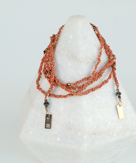 Luxury Gri Gri Bracelet / Necklace - Rose Gold / Corail