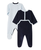 Ocean Set of 2 Velour Onesies