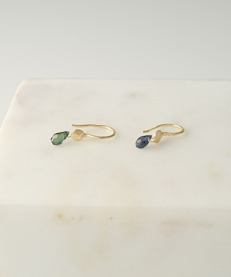 Eren Green & Blue Sapphires Earrings