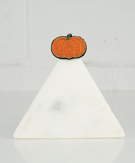 Pumpkin Embroidered Pin
