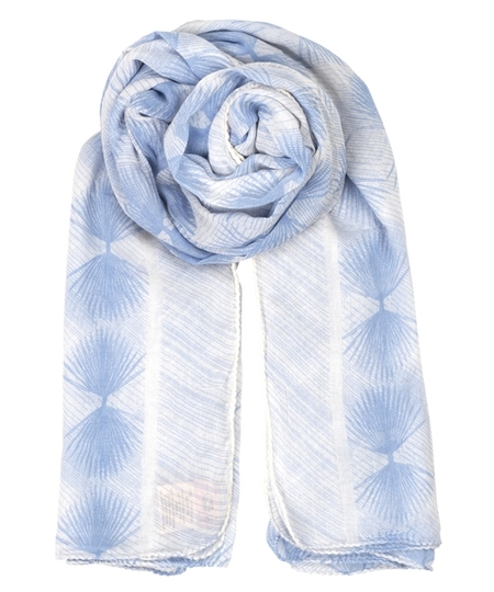 Alum Cotton Scarf - Pale Iris