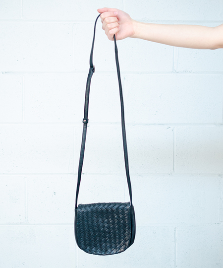 Youna Woven Purse - Black