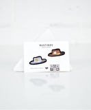Cowboy Hats Patches Set