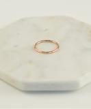 Ring Circles Hammered - Rose Gold