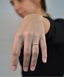 Circles Hammered Ring - Rose Gold