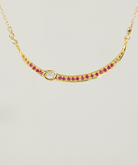 Sara Diamonds & Rubies Necklace