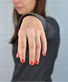 Rosie Gold Leaf Ring - Antique White