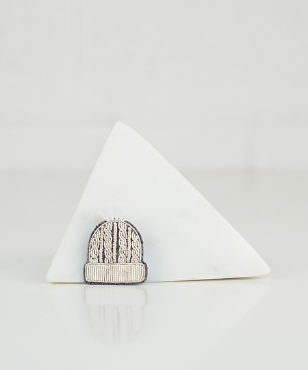 Winter Beanie Embroidered Pin