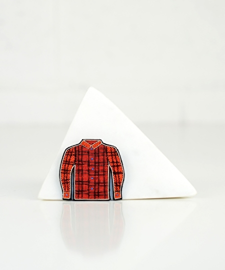 Lumberjack Shirt Embroidered Pin