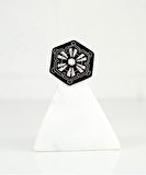 Snow Flake Embroidered Pin 01