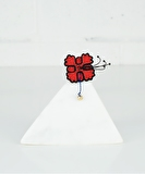 Geranium Hand Embroidered Pin