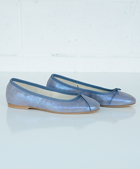 Ballet Flat - Shiny Blue