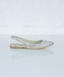 Ballet Flat Strap - Snake Skin Print