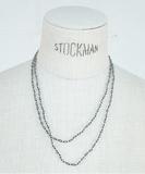 Shadow Labradorite Long Necklace