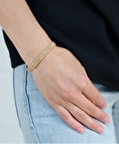 Luxury Gri Gri Gold Bracelet - Taupe