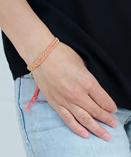 Luxury Gri Gri Gold Bracelet - Coral