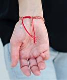 Luxury Gri Gri Rose Gold Bracelet - Red