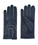 Hal Leather Gloves - Navy Blue